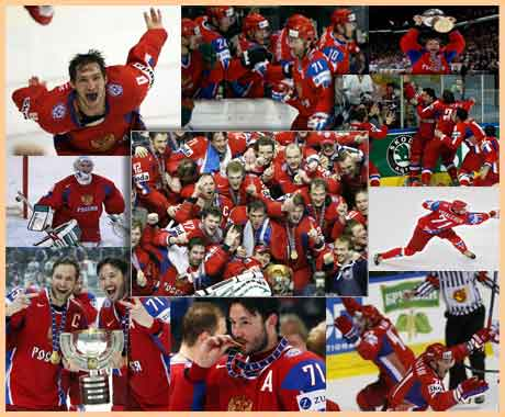 Russian hockey is the pride of russia. russian united team is the